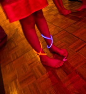 glow bracelets at sweet sixteen teen party on girl