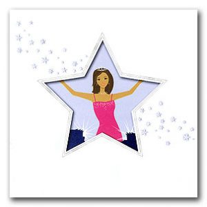 pretty in pink star invitation for birthday party