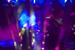 glow party lights and blacklight