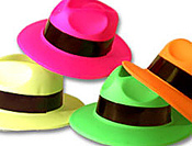 neon glow hats neon yellow neon pink neon orange neon green