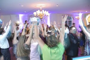 sweet sixteen party people dancing at the country club